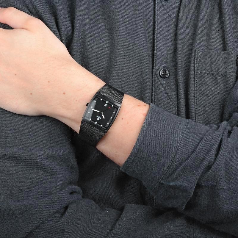 Obaku Men watch LUND - CHARCOAL WRIST view