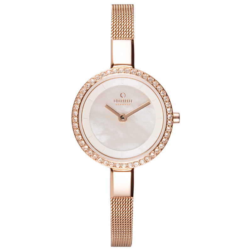 Obaku Women watch SIV GLIMT - ROSE FRONT view