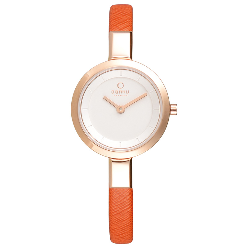 Obaku Women watch SIV - PUMPKIN FRONT view