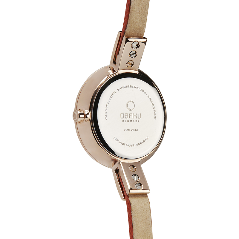 Obaku Women watch SIV - PUMPKIN BACK view