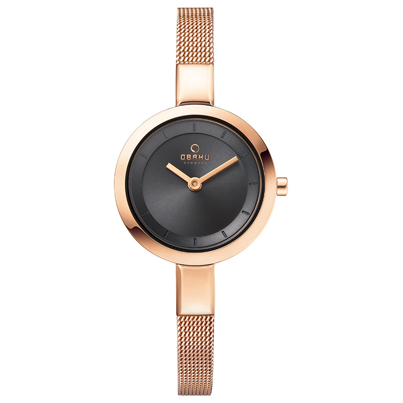 Obaku Women watch SIV - BLUSH FRONT view