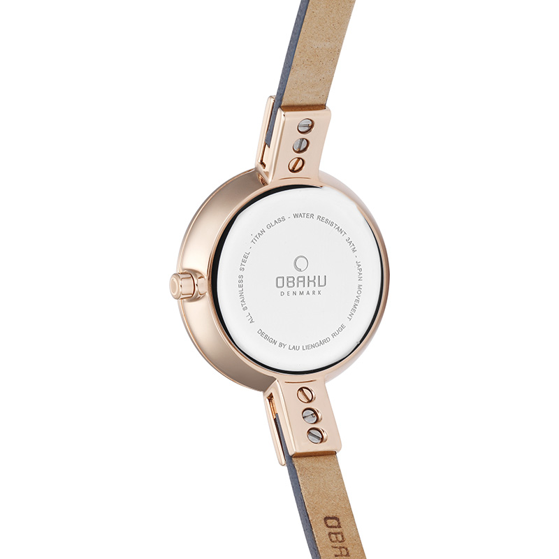 Obaku Women watch SIV - PEBBLE BACK view