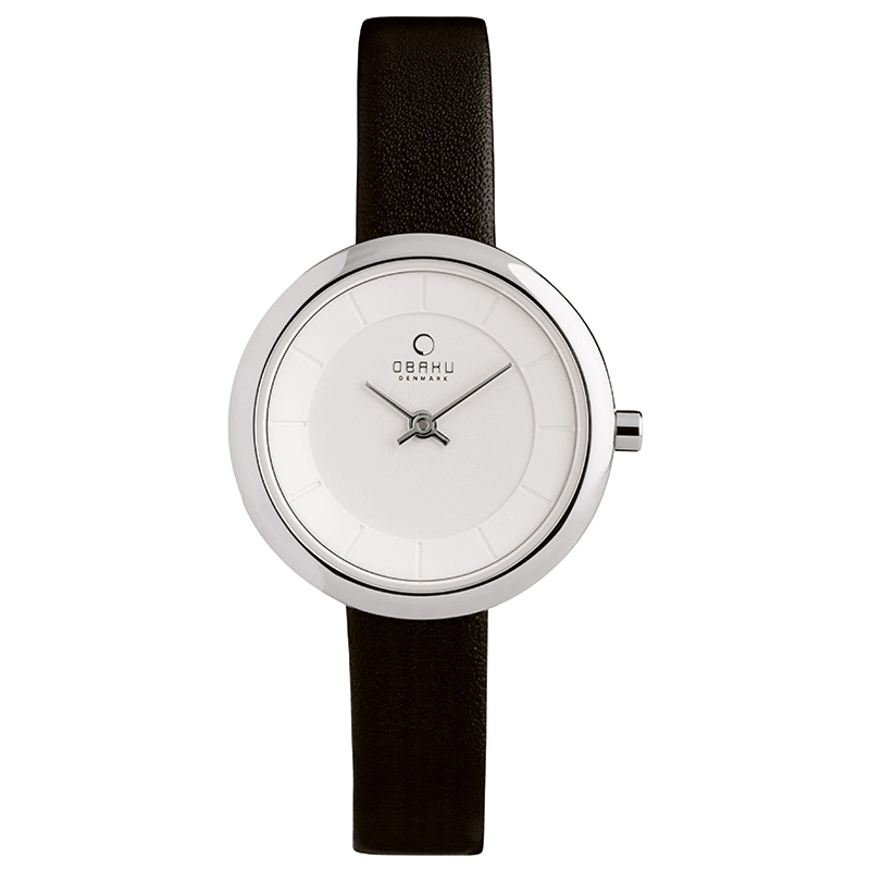 Obaku Women watch STILLE - BLACK FRONT view