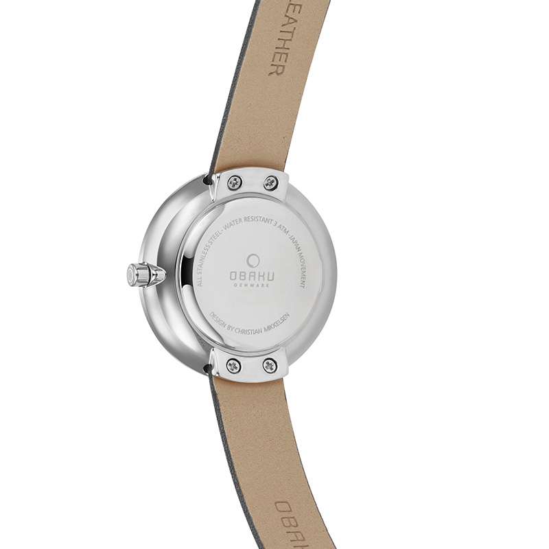 Obaku Women watch STILLE - BLACK BACK view