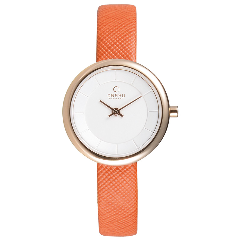 Obaku Women watch STILLE - PUMPKIN
