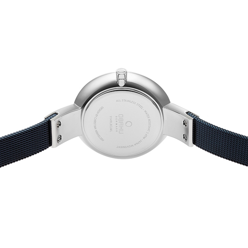 Obaku Women watch SOL - ARCTIC BACK view