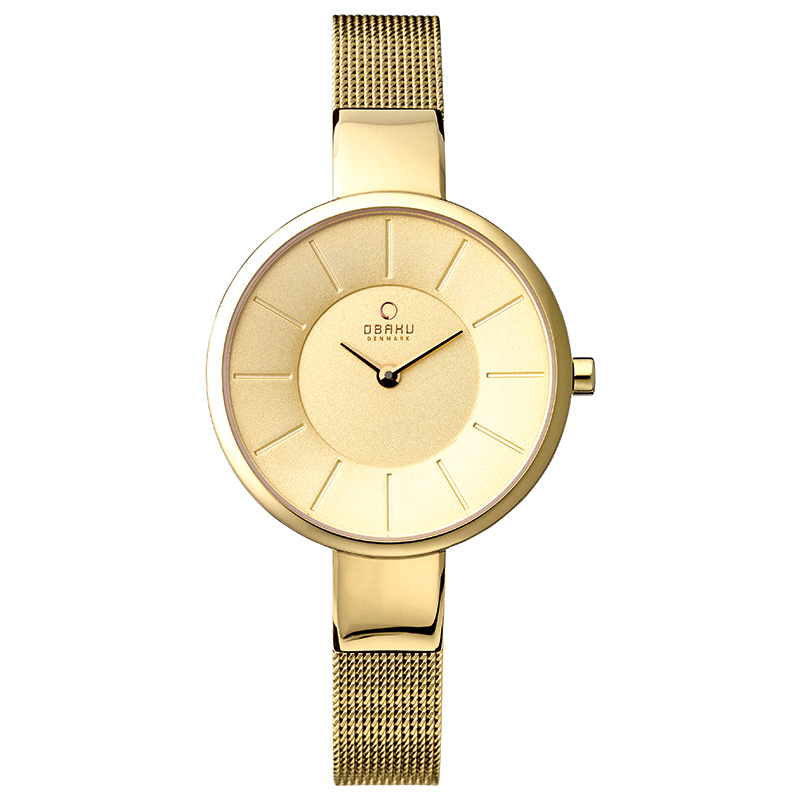 Obaku Women watch SOL - GOLD FRONT view