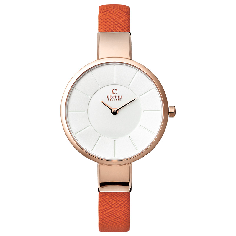 Obaku Women watch SOL - PUMPKIN FRONT view