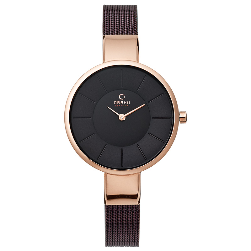 Obaku Women watch SOL - WALNUT FRONT view