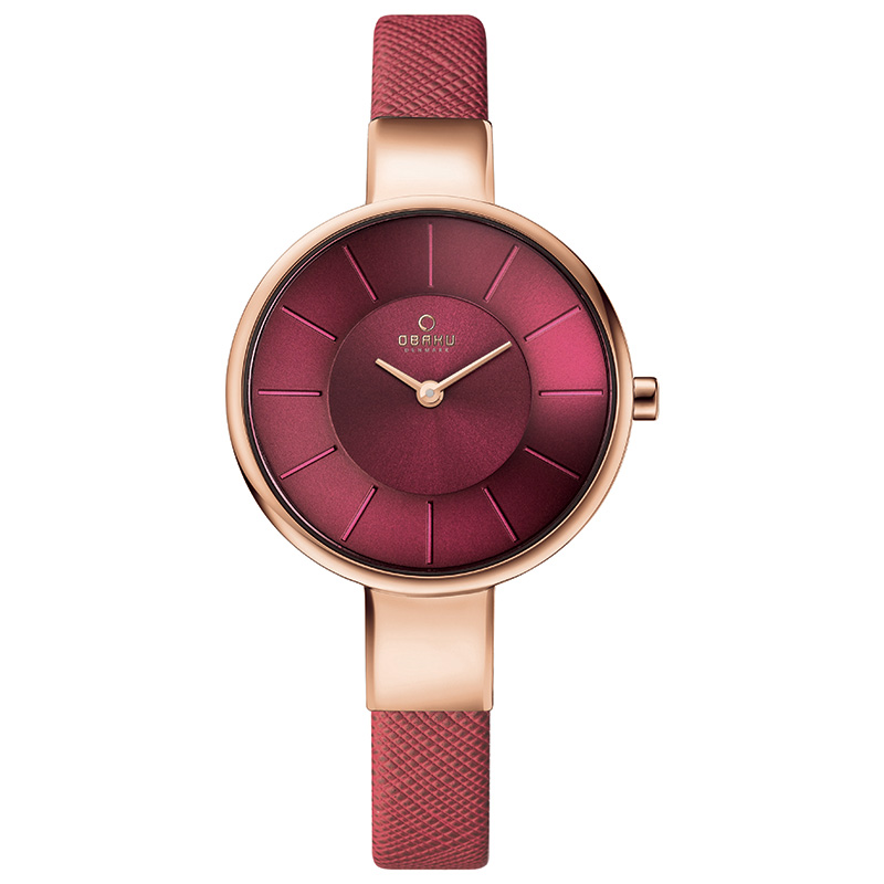 Obaku Women watch SOL - CHERRY