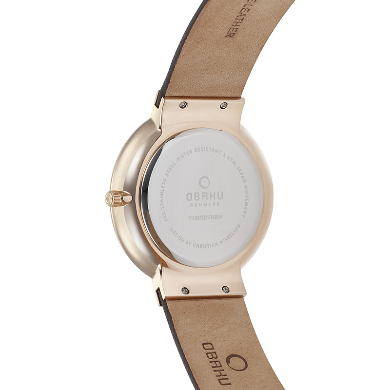 Obaku Men watch KLAR - HAZEL BACK view
