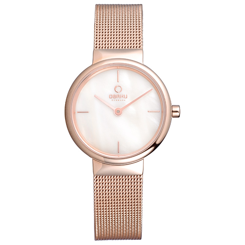 Obaku Women watch KLAR LILLE - ROSE FRONT view