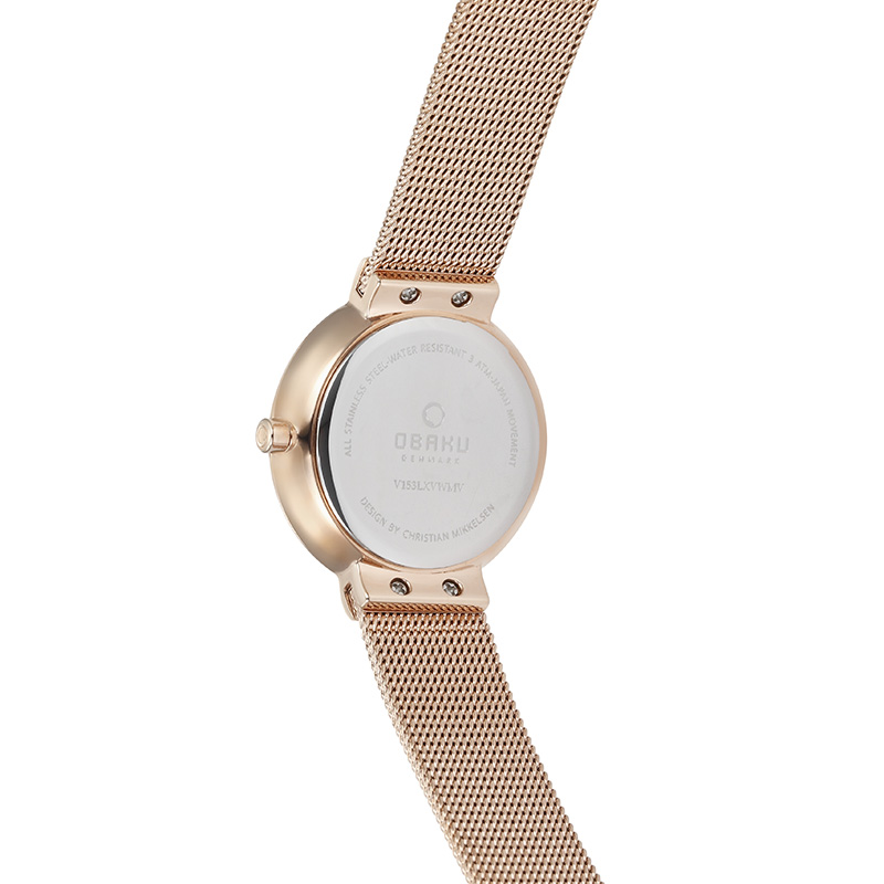 Obaku Women watch KLAR LILLE - ROSE BACK view