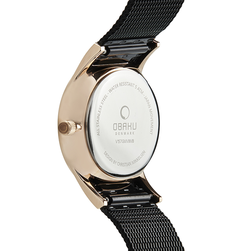 Obaku Men watch TORDEN - NIGHT BACK view