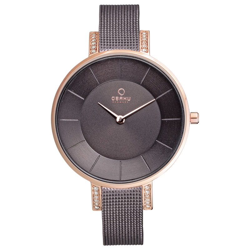 Obaku Women watch LUN - WALNUT FRONT view