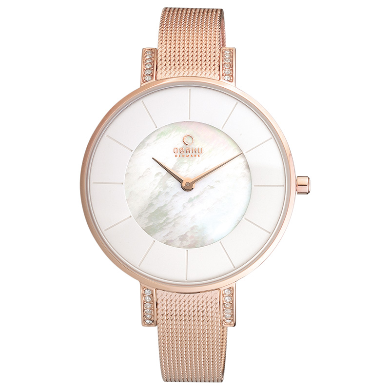 Obaku Women watch LUN - ROSE FRONT view