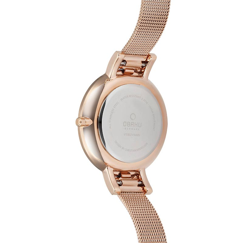 Obaku Women watch LUN - ROSE BACK view