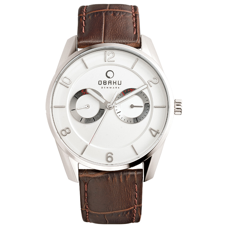 Obaku Men watch FLINT - MOCHA FRONT view