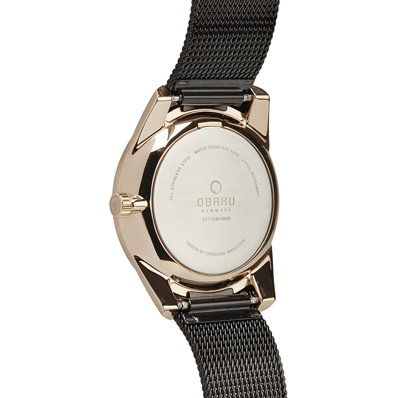Obaku Men watch FLINT - NIGHT BACK view