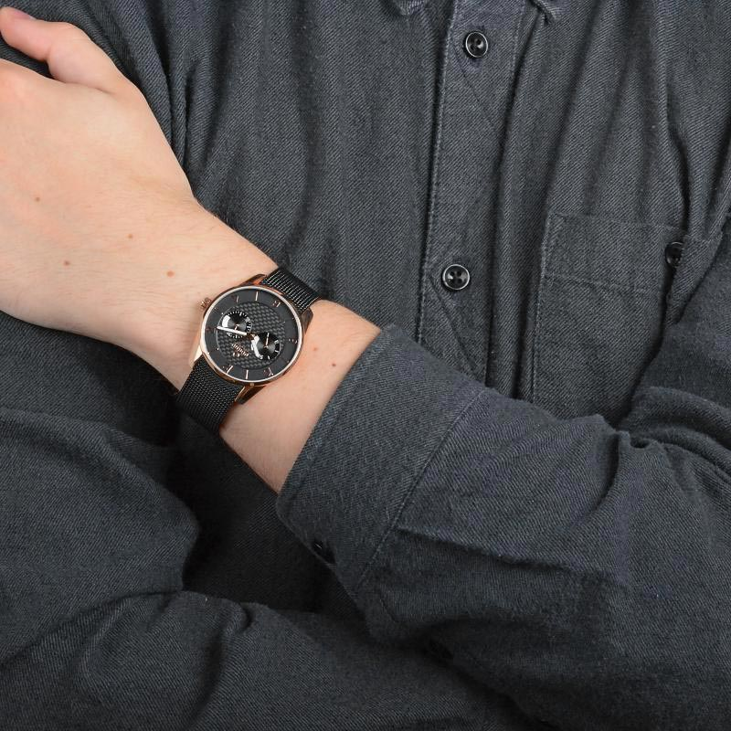 Obaku Men watch FLINT - NIGHT WRIST view