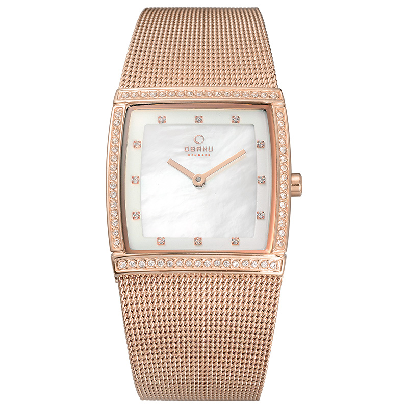 Obaku Women watch LUND GLIMT - ROSE FRONT view