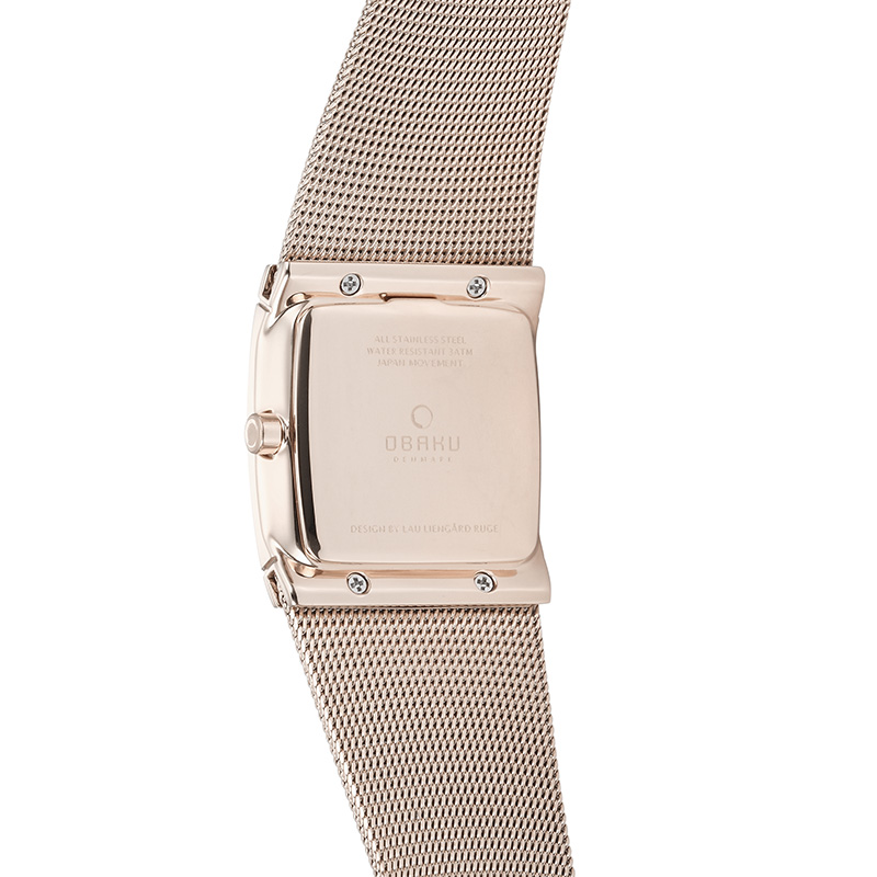 Obaku Women watch LUND GLIMT - ROSE BACK view