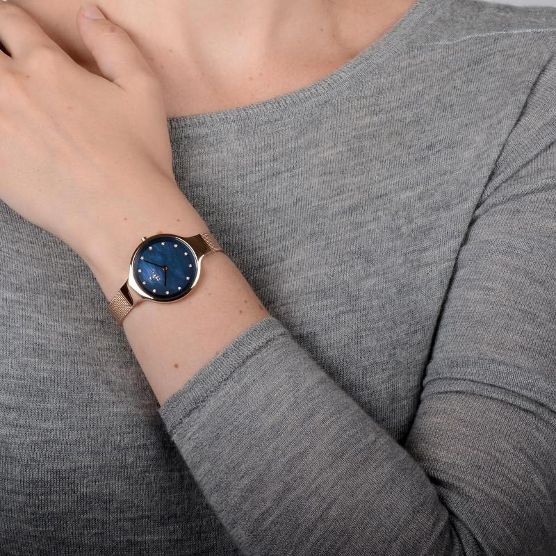 Obaku Women watch SKY - AZURE WRIST view