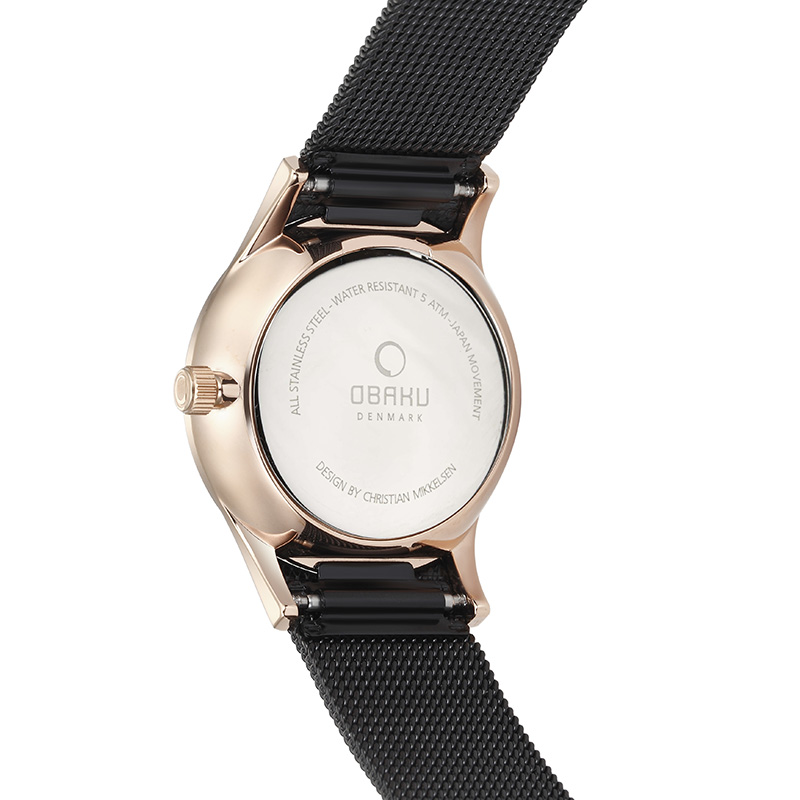 Obaku Men watch VILD - NIGHT BACK view