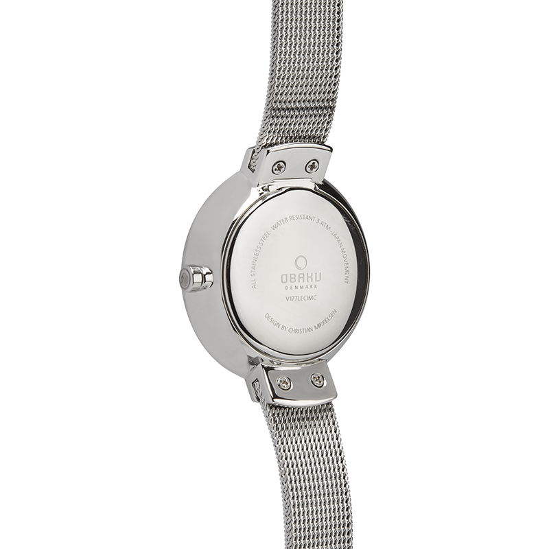 Obaku Women watch VARM - STEEL BACK view