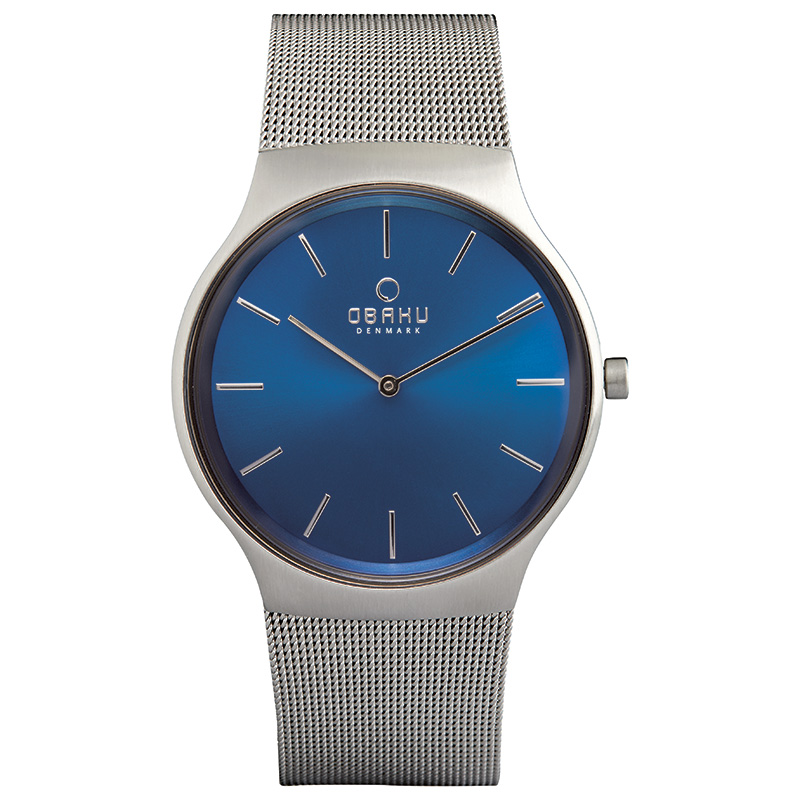 Obaku Men watch ROLIG - CYAN FRONT view