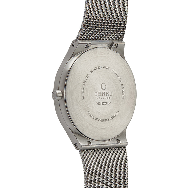 Obaku Men watch ROLIG - CYAN BACK view