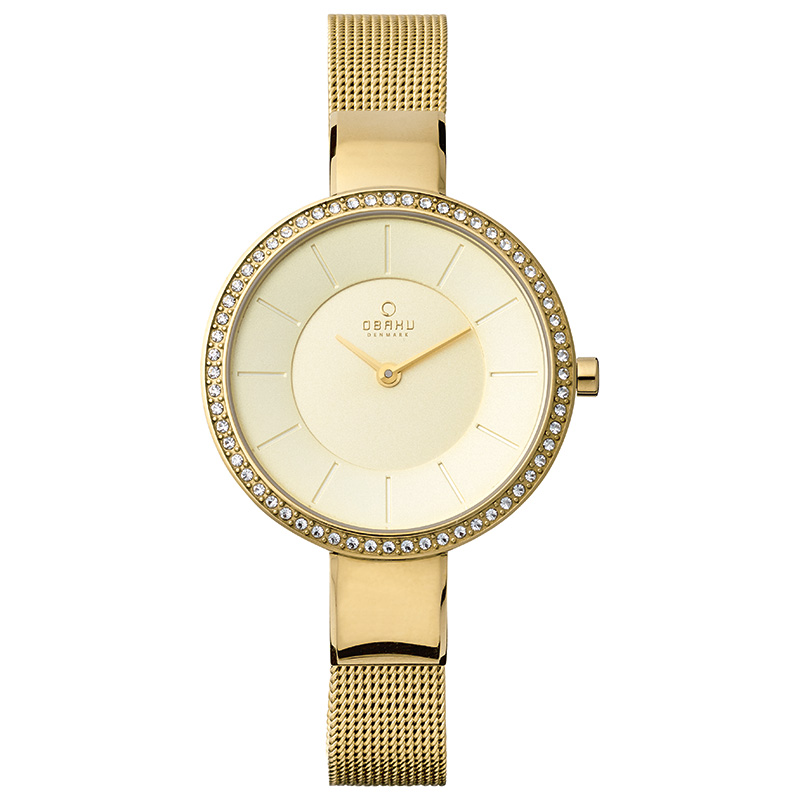 Obaku Women watch SOL GLIMT - GOLD FRONT view