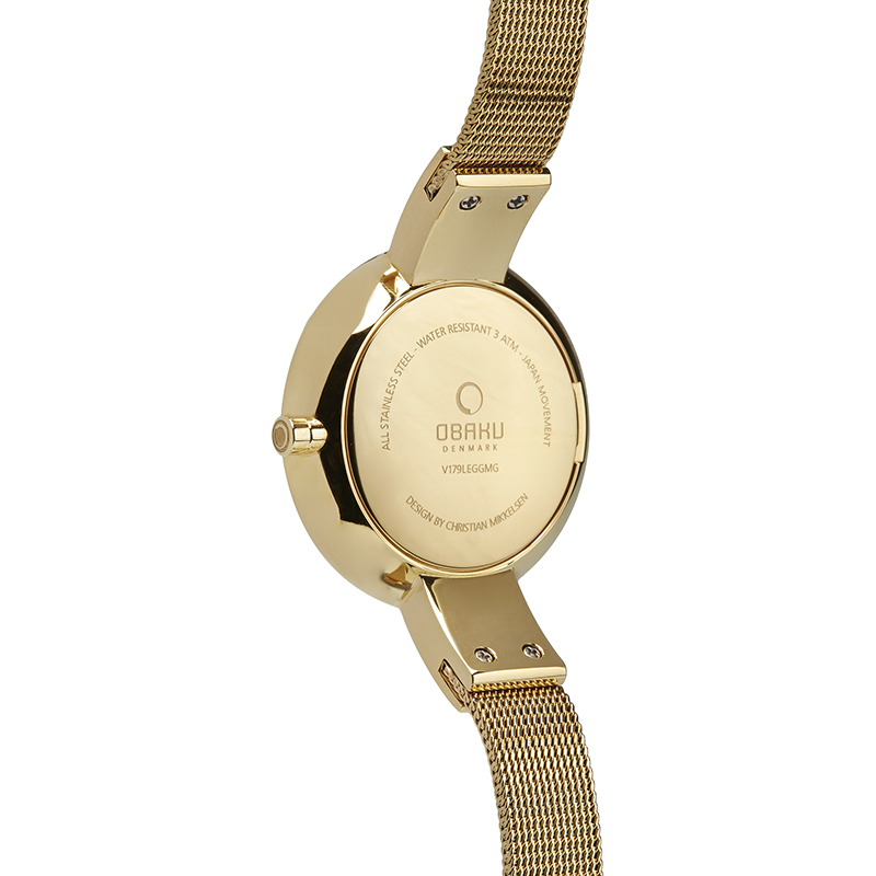 Obaku Women watch SOL GLIMT - GOLD BACK view