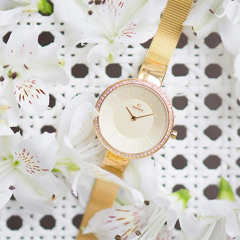 Obaku Women watch SOL GLIMT - GOLD SM1 view