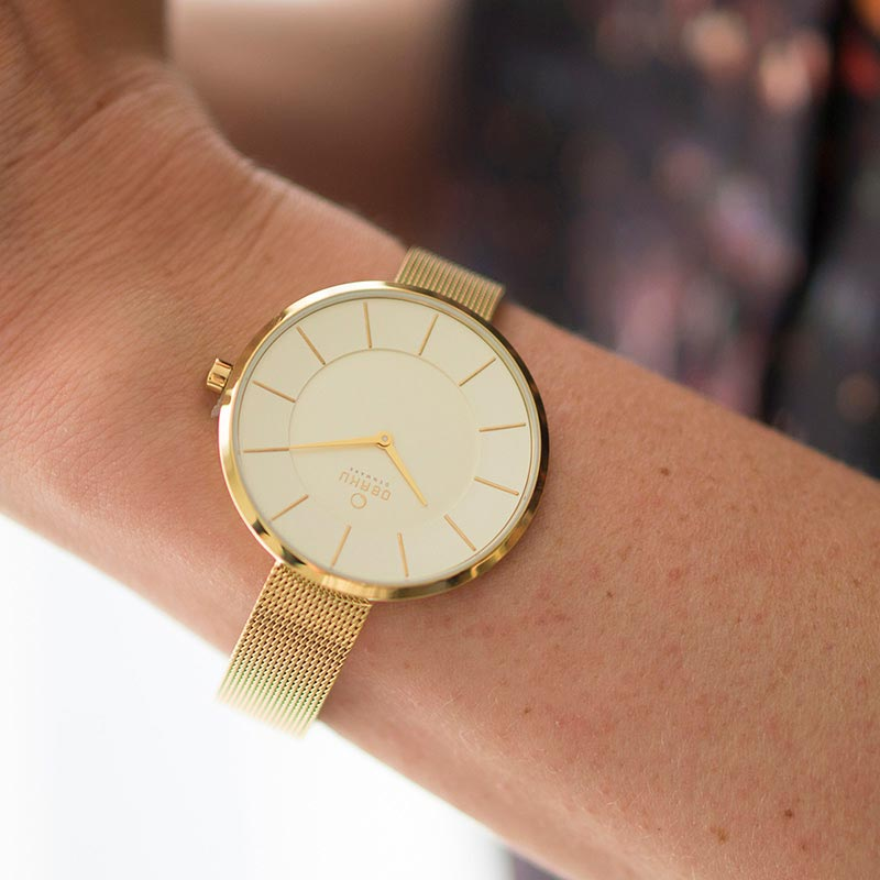 Obaku Women watch SAND - GOLD SM1 view