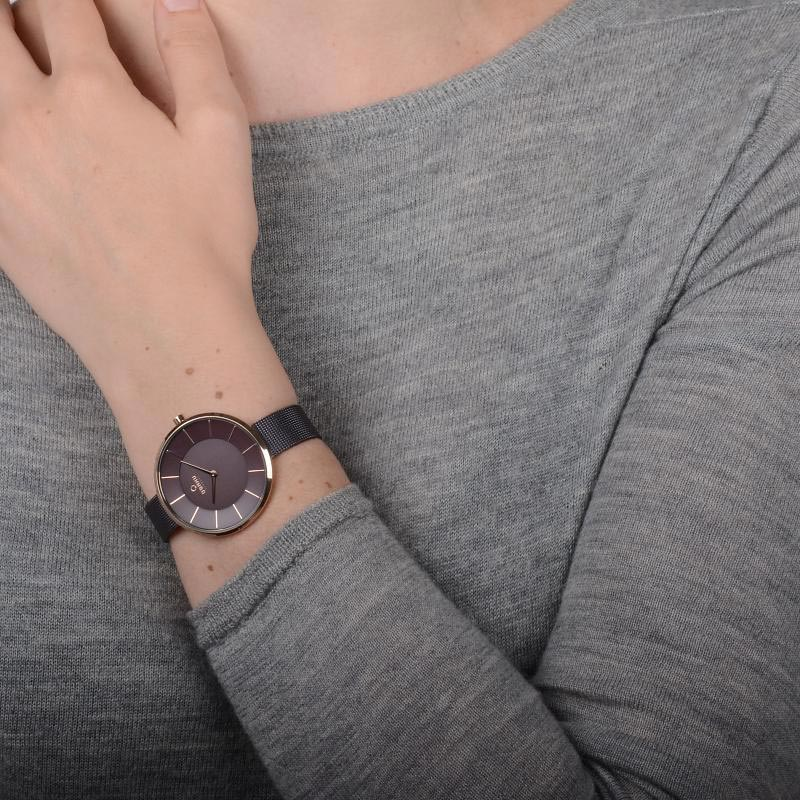 Obaku Women watch SAND - WALNUT WRIST view
