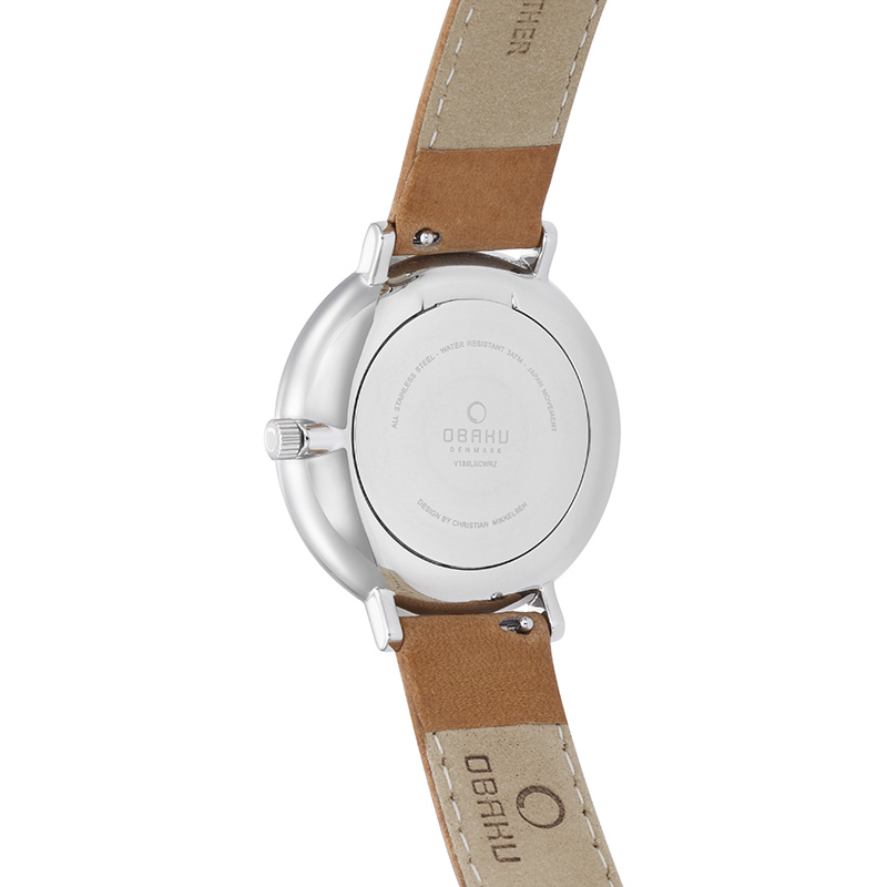 Obaku Women watch VEST - COGNAC BACK view