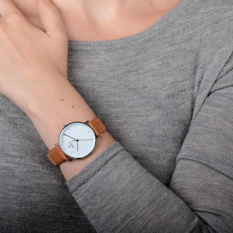 Obaku Women watch VEST - COGNAC WRIST view
