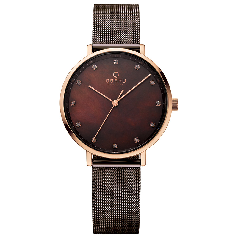 Obaku Women watch VEST - WALNUT
