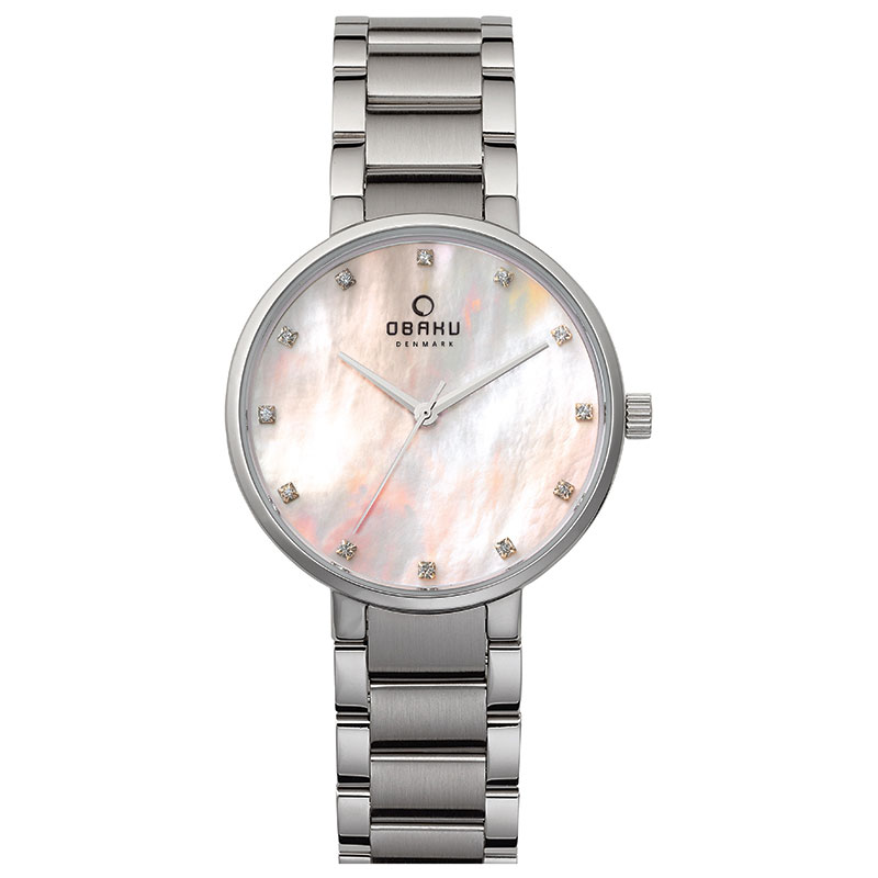 Obaku Women watch GLAD - CORAL FRONT view
