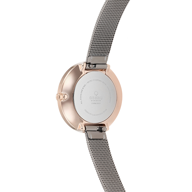 Obaku Women watch VAND - GRANITE BACK view