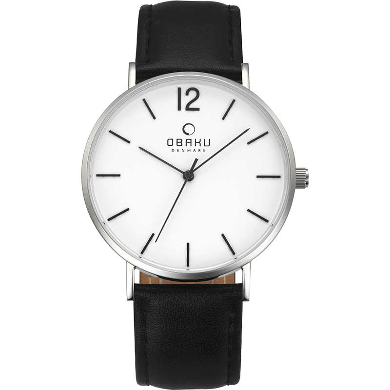 Obaku Men watch MARK - BLACK FRONT view