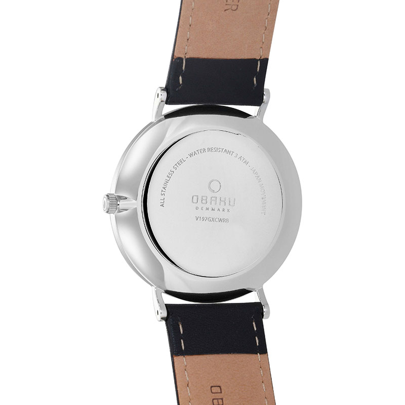 Obaku Men watch MARK - BLACK BACK view