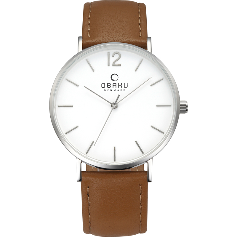 Obaku Men watch MARK - MOCHA FRONT view