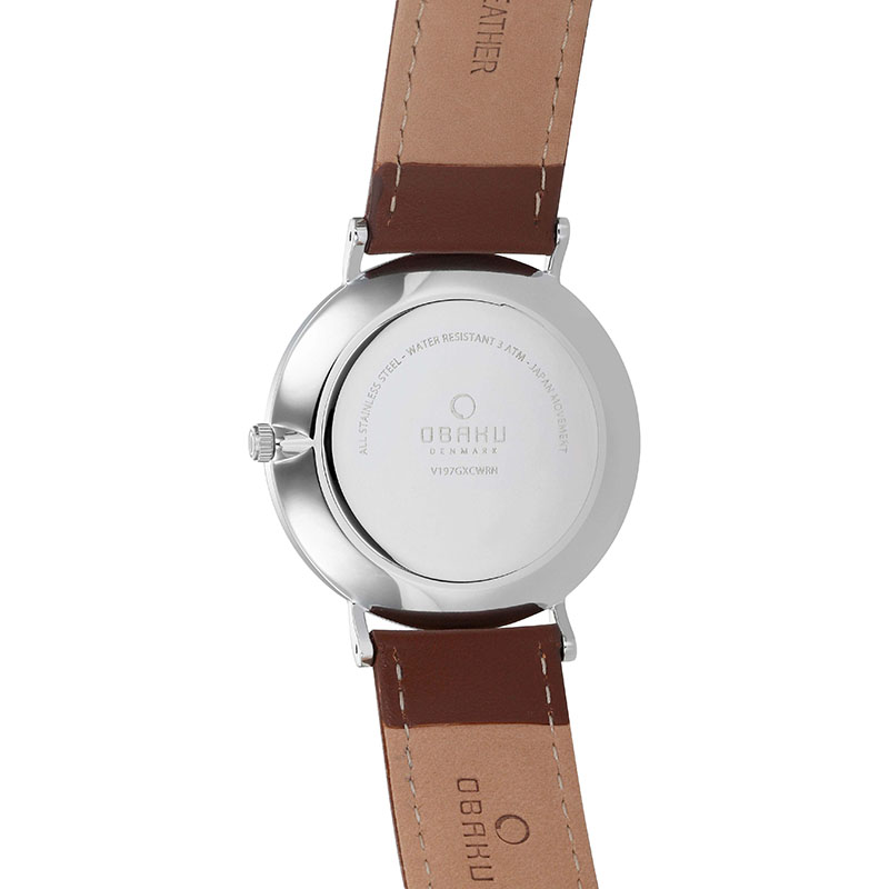 Obaku Men watch MARK - MOCHA BACK view