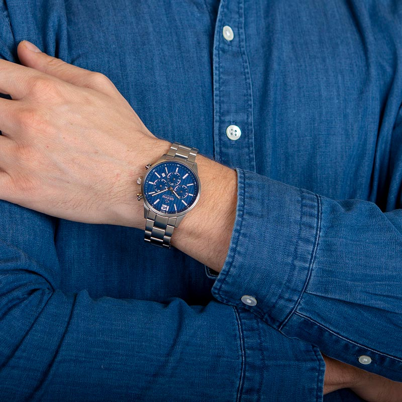 Obaku Men watch SKOV - DENIM WRIST view