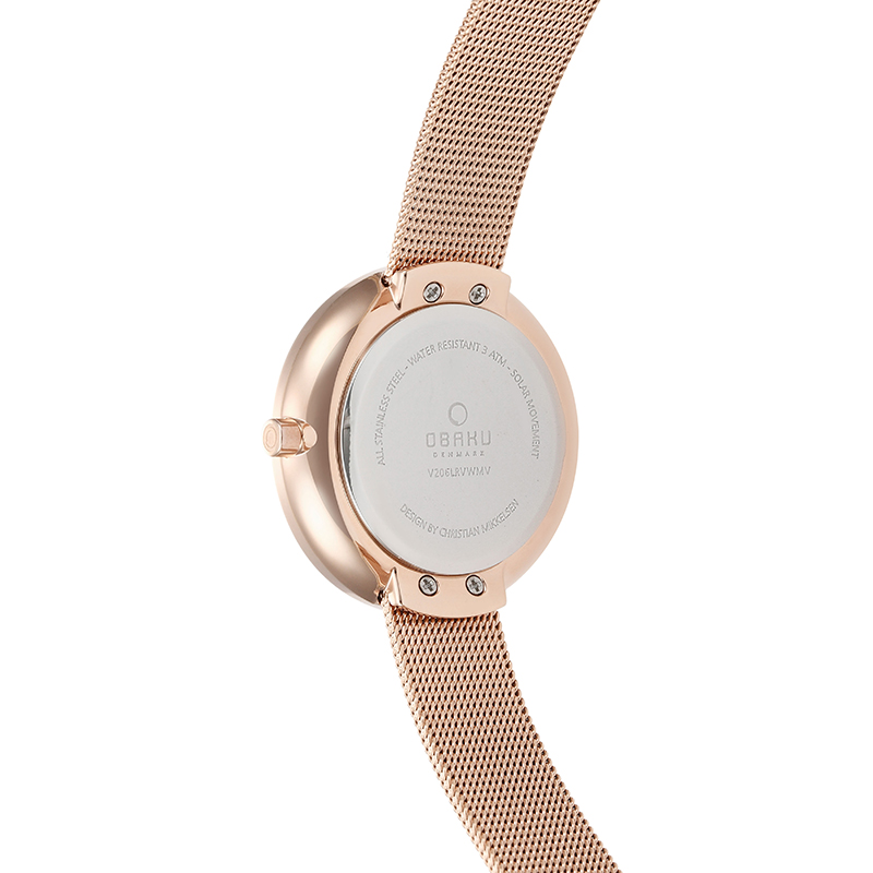 Obaku Women watch LYS - ROSE BACK view