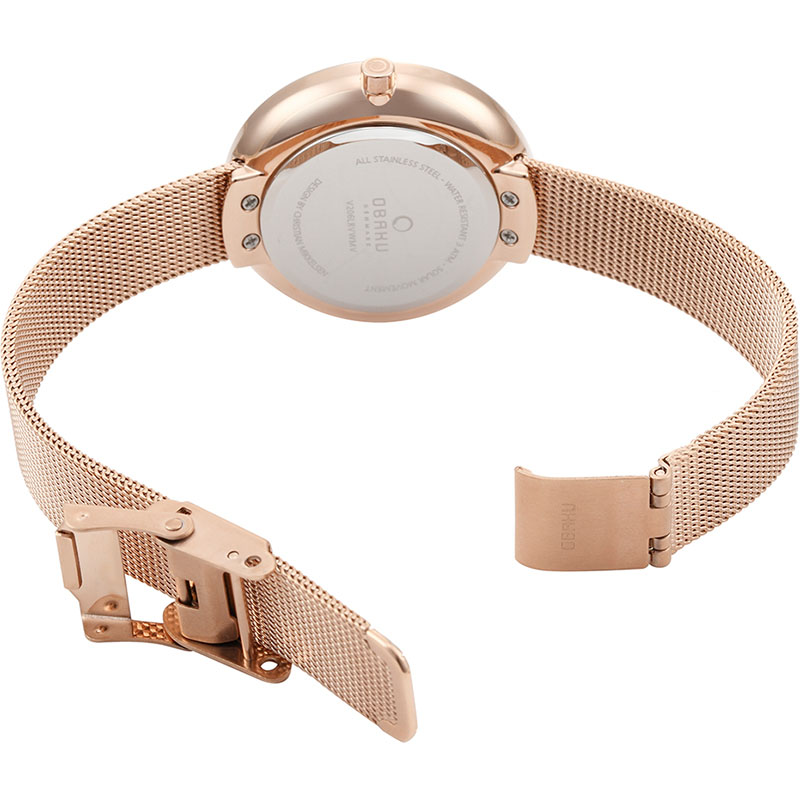 Obaku Women watch LYS - ROSE OPEN view