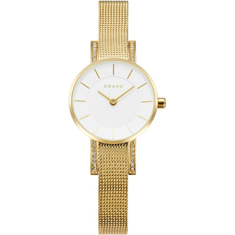 Obaku Women watch LYKKE - GOLD FRONT view