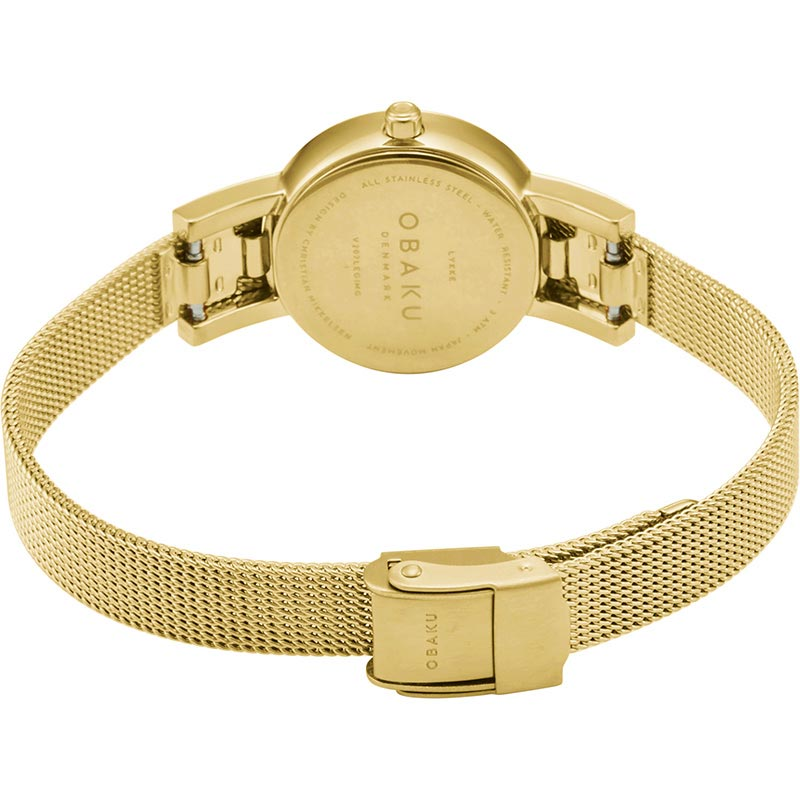 Obaku Women watch LYKKE - GOLD CLOSE view